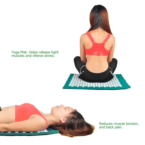 Massage Mat Spike Acupuncture Pad Relieve Stress Pain Acupressure Cushion Health Care Yoga Mat Body MassagerHealth &amp; Beauty<br>Massage Mat Spike Acupuncture Pad Relieve Stress Pain Acupressure Cushion Health Care Yoga Mat Body Massager<br>