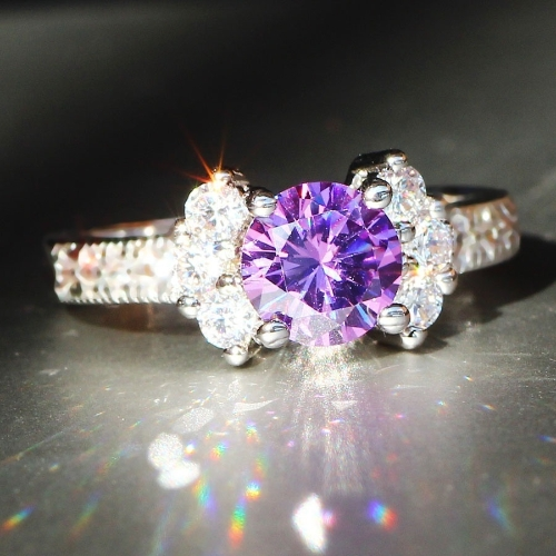 Fashion 925 sterling silver Ring 3ct Size 6-9 amazing Princess cut Pink Sapphire &amp; Topaz Engagement Ring black 5Apparel &amp; Jewelry<br>Fashion 925 sterling silver Ring 3ct Size 6-9 amazing Princess cut Pink Sapphire &amp; Topaz Engagement Ring black 5<br>