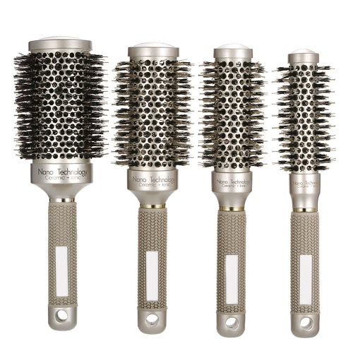 25mm Ceramic Ionic Round Comb Nano Thermal Hair Roll Brush Bristle Nylon Rubber Handle Hair Curling Styling CombHealth &amp; Beauty<br>25mm Ceramic Ionic Round Comb Nano Thermal Hair Roll Brush Bristle Nylon Rubber Handle Hair Curling Styling Comb<br>