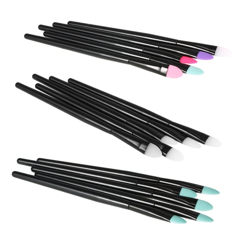 5pcs Silicone Makeup Brush Set Professional Eyeshadow Brush Kit Facial Cosmetic Tools for Woman WhiteHealth &amp; Beauty<br>5pcs Silicone Makeup Brush Set Professional Eyeshadow Brush Kit Facial Cosmetic Tools for Woman White<br>
