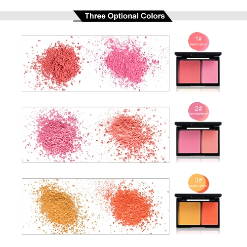 Huamianli 2 Color Blusher Pallete Face Blusher Powder Palette Face Makeup Powder Cosmetic Bicolor Blush SetHealth &amp; Beauty<br>Huamianli 2 Color Blusher Pallete Face Blusher Powder Palette Face Makeup Powder Cosmetic Bicolor Blush Set<br>