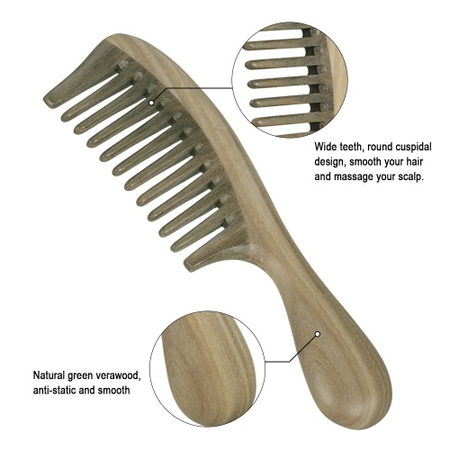 Natural Green Sandalwood Comb Wide Tooth Verawood Comb Scalp Massage Smoothing HairHealth &amp; Beauty<br>Natural Green Sandalwood Comb Wide Tooth Verawood Comb Scalp Massage Smoothing Hair<br>
