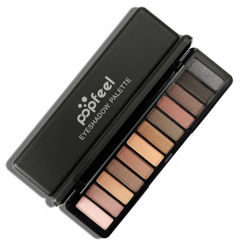 Popfeel 12 Colors Eyeshadow Palette Matte Shimmer Eye Shadow Powder Long-lasting Eyeshadow Pigment Makeup PaletteHealth &amp; Beauty<br>Popfeel 12 Colors Eyeshadow Palette Matte Shimmer Eye Shadow Powder Long-lasting Eyeshadow Pigment Makeup Palette<br>