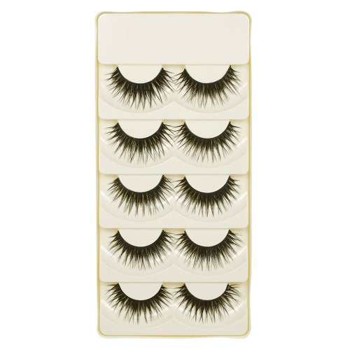 5 Pairs False Eyelashes Long Black Natural Crisscross 3D Eyelashes Extention Fake Eyelashes MakeupHealth &amp; Beauty<br>5 Pairs False Eyelashes Long Black Natural Crisscross 3D Eyelashes Extention Fake Eyelashes Makeup<br>