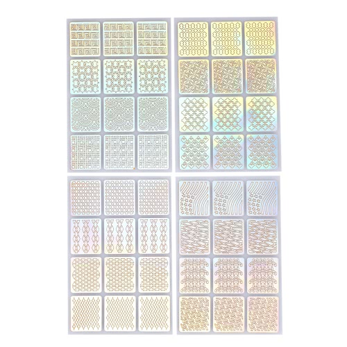 24pcs/set Nail Manicure Stickers Mixed Patterns French Nail Hollow Grid Stencil Stamping Template Nail Art ToolsHealth &amp; Beauty<br>24pcs/set Nail Manicure Stickers Mixed Patterns French Nail Hollow Grid Stencil Stamping Template Nail Art Tools<br>