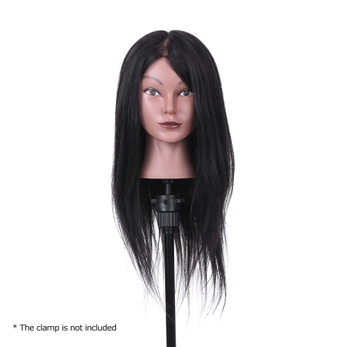 19 Hairdressing Training Head Dummy Head Cosmetology Mannequin Head 80% Real Hair + 20% High Temperature Fiber BlackHealth &amp; Beauty<br>19 Hairdressing Training Head Dummy Head Cosmetology Mannequin Head 80% Real Hair + 20% High Temperature Fiber Black<br>