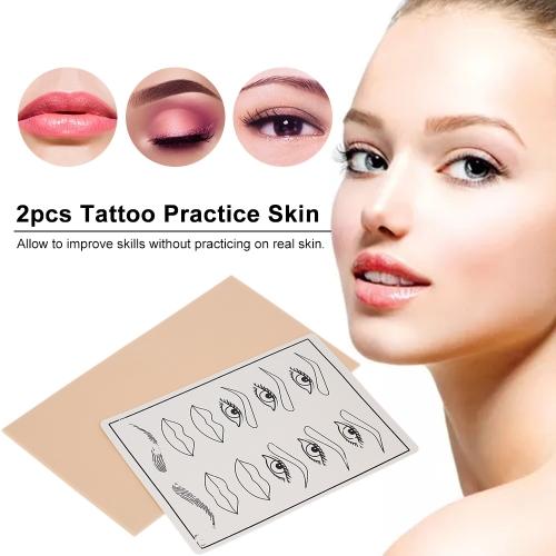 2pcs Facial Microblading Tattoo Practice Skin Eyebrows Lips Permanent Makeup Silicone Fake Skin SheetsHealth &amp; Beauty<br>2pcs Facial Microblading Tattoo Practice Skin Eyebrows Lips Permanent Makeup Silicone Fake Skin Sheets<br>