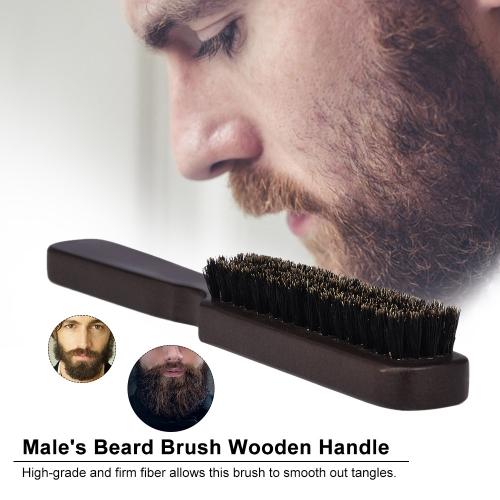 Men's Beard Brush Wooden Mustache Comb Male Shaving Brush Multifunctional Facial Hair Brush