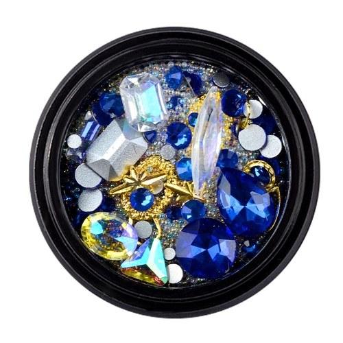 12 Style Nail Art Decoration Charm Gem Beads Rhinestone Hollow Shell Flake Flatback Rivet Mixed Shiny Glitter 3D DIY Accessories