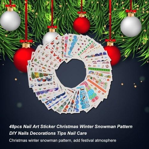 48pcs Nail Art Sticker Tips Nail Care