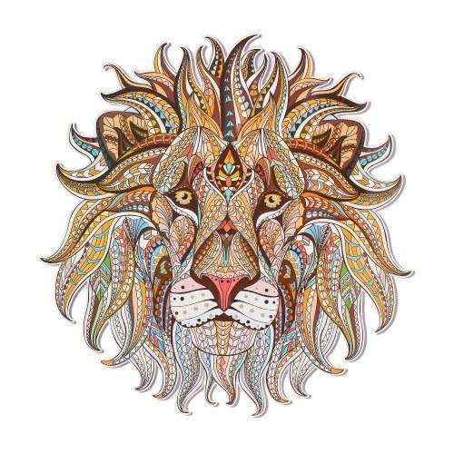 Calcomanía de parche de tela de vinilo de transferencia de calor Cool 3D Lion King Wolf pegatinas para Tops T-shirt Tote cortina de decoración del hogar DIY