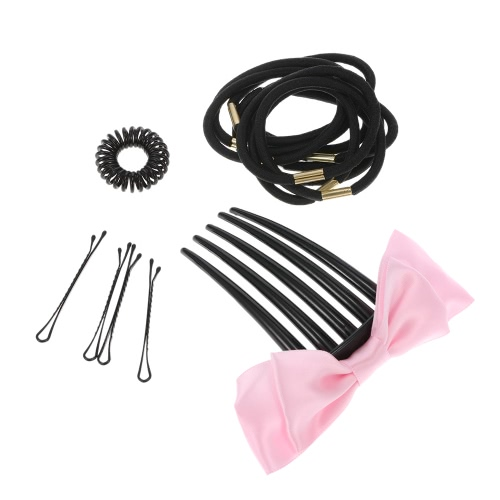 Women Hair Styling Accessories Hair Braid Tool Hair Twist Set Comb Pin Hairdressing Donut Former Hair Braiding Tool Ponytail MakerHealth &amp; Beauty<br>Women Hair Styling Accessories Hair Braid Tool Hair Twist Set Comb Pin Hairdressing Donut Former Hair Braiding Tool Ponytail Maker<br>