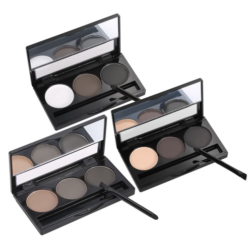 Focallure Eyebrow Powder 3 Colors Brow Palette Woman Eyebrow Makeup Professional Cosmetic Tool With Brush &amp; Mirror 1#Health &amp; Beauty<br>Focallure Eyebrow Powder 3 Colors Brow Palette Woman Eyebrow Makeup Professional Cosmetic Tool With Brush &amp; Mirror 1#<br>