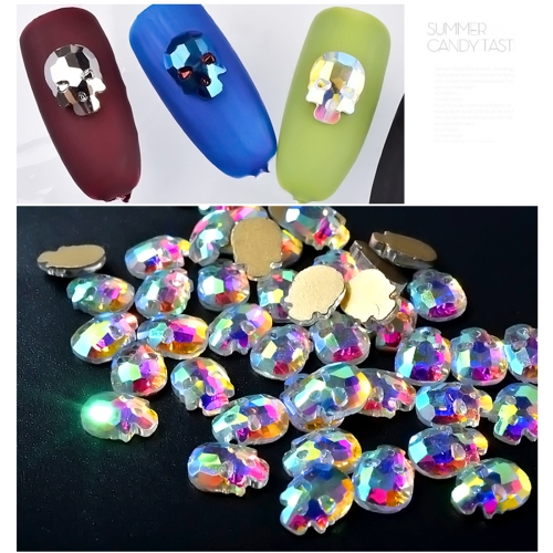DIY 10pcs Decoration Skull Heads Manicure Gel Nail Art Sticker PatchHealth &amp; Beauty<br>DIY 10pcs Decoration Skull Heads Manicure Gel Nail Art Sticker Patch<br>