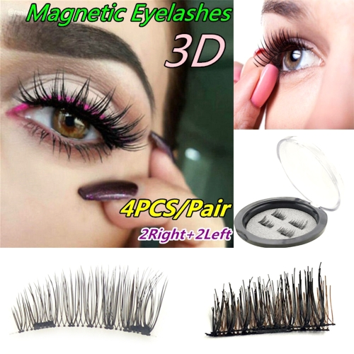 4Pcs/Set Magnet Buckle Magnet False Free Glue 3D Fake Colorful EyelashesHealth &amp; Beauty<br>4Pcs/Set Magnet Buckle Magnet False Free Glue 3D Fake Colorful Eyelashes<br>