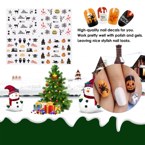 1 pc/12 sets Nail Manicure Decals Christmas Stickers Set Nail Art DIY ToolsHealth &amp; Beauty<br>1 pc/12 sets Nail Manicure Decals Christmas Stickers Set Nail Art DIY Tools<br>
