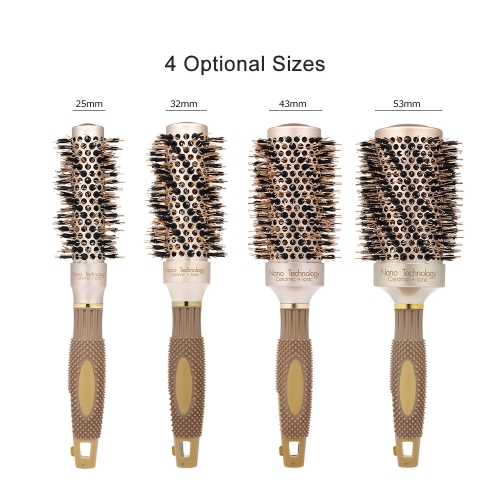 Professional Hair Salon Brush Ceramic Ionic Hair Roller Brush Nano Thermal Hair Styling Round Comb High Temperature ResistantHealth &amp; Beauty<br>Professional Hair Salon Brush Ceramic Ionic Hair Roller Brush Nano Thermal Hair Styling Round Comb High Temperature Resistant<br>