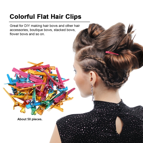 Colorful Hair Clips Steel Flat Prong Alligator Metal Single Hair Clamp Barrette for Bows DIY Accessories HairpinsHealth &amp; Beauty<br>Colorful Hair Clips Steel Flat Prong Alligator Metal Single Hair Clamp Barrette for Bows DIY Accessories Hairpins<br>
