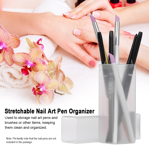 Nail Art Brush Pot Stretchable Nail Art Pen Storage Box Nail Pen Organizer Cosmetic Makeup CaseHealth &amp; Beauty<br>Nail Art Brush Pot Stretchable Nail Art Pen Storage Box Nail Pen Organizer Cosmetic Makeup Case<br>