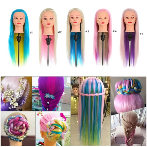 Colorful Manikin Rainbow Hair Training Head Dummy Head with Thick 70cm Long Hair Dolls Head Great Mannequin Head For HairdressersHealth &amp; Beauty<br>Colorful Manikin Rainbow Hair Training Head Dummy Head with Thick 70cm Long Hair Dolls Head Great Mannequin Head For Hairdressers<br>