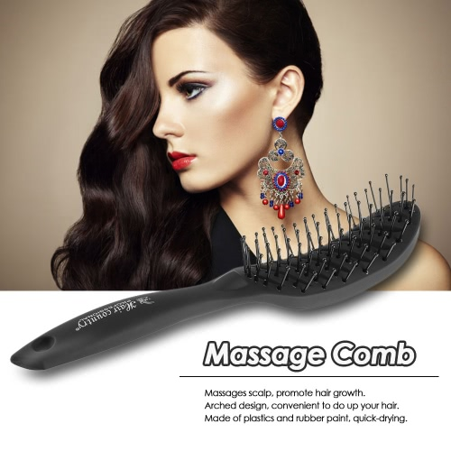 Women Paddle Hair Detangle Hairbrush Scalp Massage Comb Black Hairdressing Comb for Salon Barber Hair Comb Plastic Hair BrushHealth &amp; Beauty<br>Women Paddle Hair Detangle Hairbrush Scalp Massage Comb Black Hairdressing Comb for Salon Barber Hair Comb Plastic Hair Brush<br>