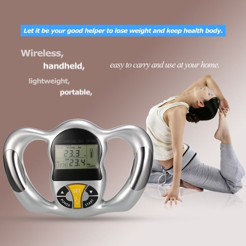 Digital LCD Screen Handheld Body Fat Monitor Health Analyzer BMI Tester Body Fat Meter Measurement Home UseHealth &amp; Beauty<br>Digital LCD Screen Handheld Body Fat Monitor Health Analyzer BMI Tester Body Fat Meter Measurement Home Use<br>