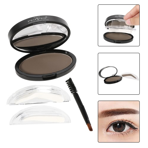 PNF Brow Stamp Powder Eye Brow Enhancer Delicate Natural Brow With Brush Mirror 2 Pairs Stamps 1# Bright BrownHealth &amp; Beauty<br>PNF Brow Stamp Powder Eye Brow Enhancer Delicate Natural Brow With Brush Mirror 2 Pairs Stamps 1# Bright Brown<br>