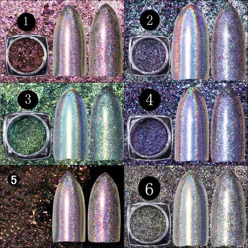 Shiny Rainbow Laser Magic Mirror Powder Nail Art Glitter Fashion Nails Decoration Womens Nail DIYHealth &amp; Beauty<br>Shiny Rainbow Laser Magic Mirror Powder Nail Art Glitter Fashion Nails Decoration Womens Nail DIY<br>