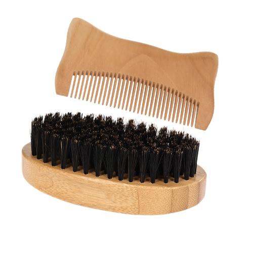 2Pcs Men's Beard Brush Comb Set Soft Fiber Shaving Brush Wooden Hair Comb Male Facial Hair Brush Comb KitHealth &amp; Beauty<br>2Pcs Men's Beard Brush Comb Set Soft Fiber Shaving Brush Wooden Hair Comb Male Facial Hair Brush Comb Kit<br>