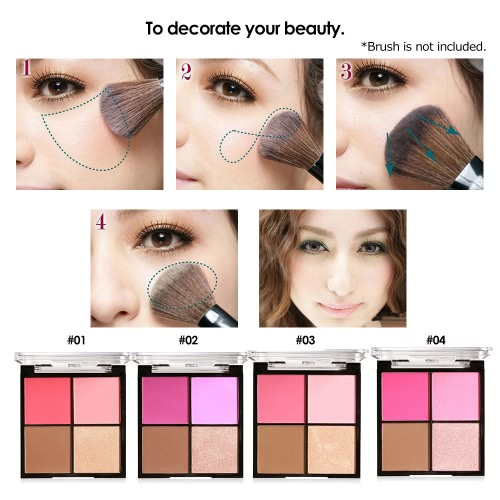 MARIA AYORA 4 Color Blusher Pallete Face Makeup Powder Face Blusher Powder Palette Cosmetic Blush SetHealth &amp; Beauty<br>MARIA AYORA 4 Color Blusher Pallete Face Makeup Powder Face Blusher Powder Palette Cosmetic Blush Set<br>