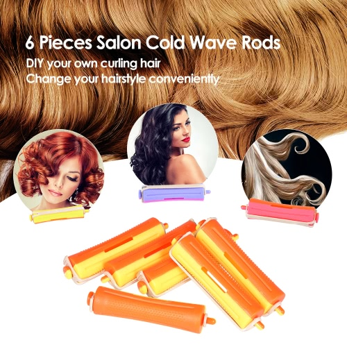 6 Pieces Salon Cold Wave Rods Hair Roller With Rubber Band Curling Curler Perms Hairdressing Styling Tool for Girls Women Hair DIYHealth &amp; Beauty<br>6 Pieces Salon Cold Wave Rods Hair Roller With Rubber Band Curling Curler Perms Hairdressing Styling Tool for Girls Women Hair DIY<br>