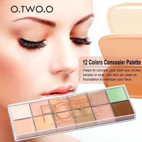O.TWO.O 12 Colors Concealer Palette Facial Camouflage Concealer Long Lasting Face Cream Waterproof Make Up CreamHealth &amp; Beauty<br>O.TWO.O 12 Colors Concealer Palette Facial Camouflage Concealer Long Lasting Face Cream Waterproof Make Up Cream<br>