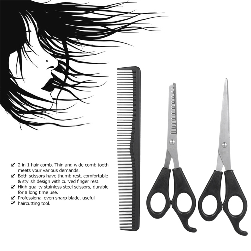 3Pcs/set Hair Cutting Thinning Scissors Set Hair Scissors Hair Comb Set Professional Hairdressing Shears With Hair CombHealth &amp; Beauty<br>3Pcs/set Hair Cutting Thinning Scissors Set Hair Scissors Hair Comb Set Professional Hairdressing Shears With Hair Comb<br>