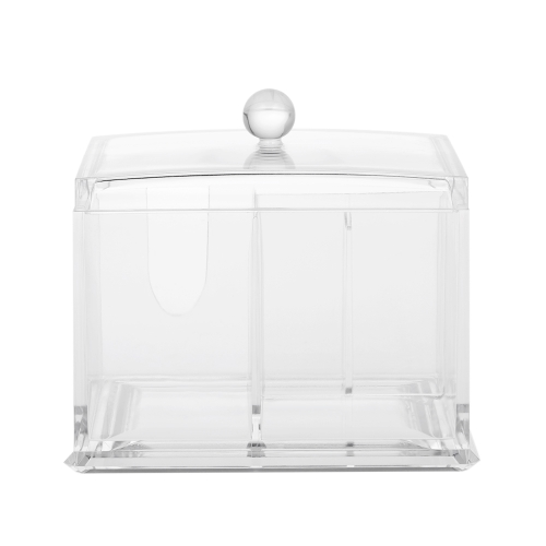 Acrylic Cotton Swabs Organizer Box Lipstick Cosmetics Storage Holder Makeup Storage Box Portable Cotton Pads ContainerHealth &amp; Beauty<br>Acrylic Cotton Swabs Organizer Box Lipstick Cosmetics Storage Holder Makeup Storage Box Portable Cotton Pads Container<br>