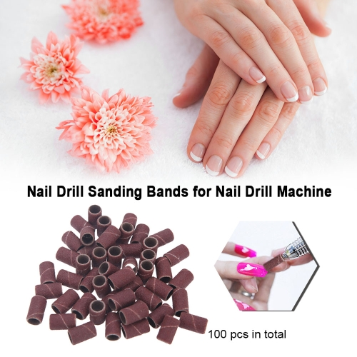 100 Pcs Nail Drill Sanding Bands Grinding Sand for Manicure Pedicure Nail Drill Machine Nail Art Tool 80# 120# 180# Optional SizeHealth &amp; Beauty<br>100 Pcs Nail Drill Sanding Bands Grinding Sand for Manicure Pedicure Nail Drill Machine Nail Art Tool 80# 120# 180# Optional Size<br>