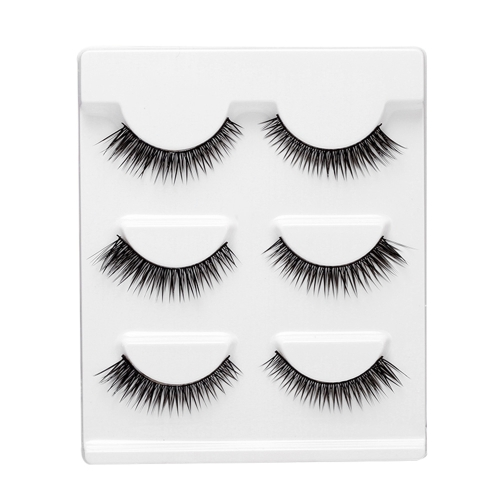 3 Pairs 3D False Eyelashes Invisible Band Natural Dense Cross Black Eyelash Full Strip ReusableHealth &amp; Beauty<br>3 Pairs 3D False Eyelashes Invisible Band Natural Dense Cross Black Eyelash Full Strip Reusable<br>