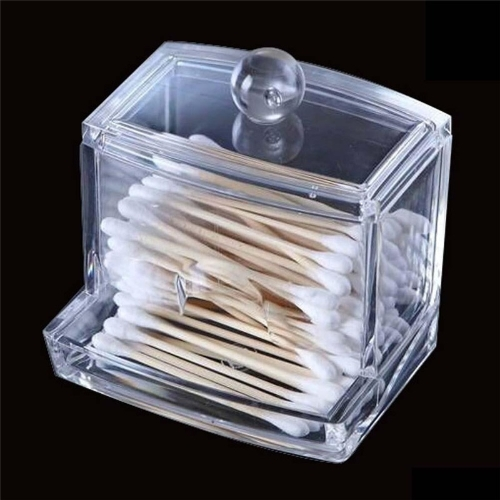 Clear Acrylic Q-tip Cotton Swab Box Case Makeup Storage Organizer HolderHome &amp; Garden<br>Clear Acrylic Q-tip Cotton Swab Box Case Makeup Storage Organizer Holder<br>