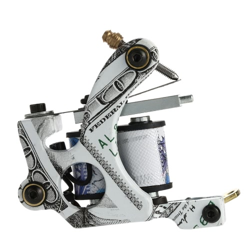 Nouveau Pro Tattoo Machine Shader Liner 10 Wrap bobines tatouage Instrument