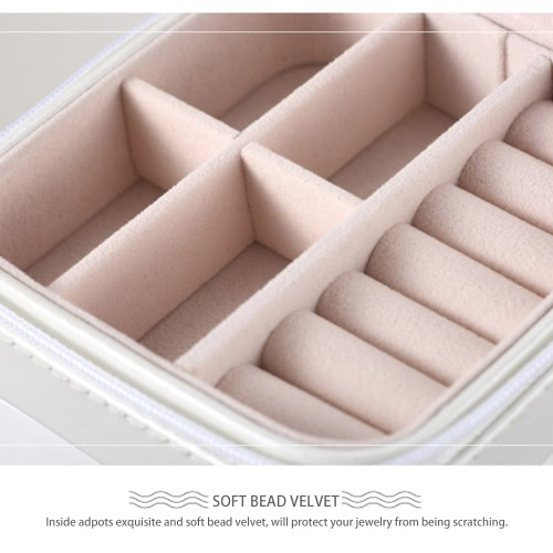 New Mini High Quality PU Fashion Jewelry Box Basket Earring Ear Studs Necklace Ring Watch Display Case With Mirror for Gift TravelHealth &amp; Beauty<br>New Mini High Quality PU Fashion Jewelry Box Basket Earring Ear Studs Necklace Ring Watch Display Case With Mirror for Gift Travel<br>