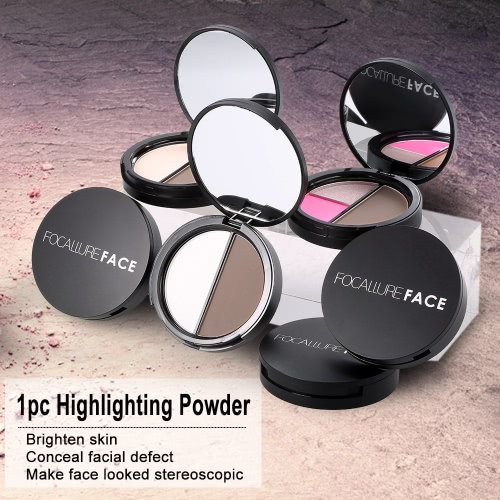 Focallure 1pc Makeup Contour Woman Concealer Powder Professional Highlighting Palette Face Cosmetic Tool With Mirror 1#Health &amp; Beauty<br>Focallure 1pc Makeup Contour Woman Concealer Powder Professional Highlighting Palette Face Cosmetic Tool With Mirror 1#<br>