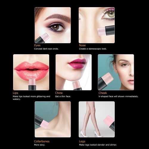 Focallure 1pc Highlighting Pen Makeup Stick Woman Concealer Powder Contour Palette Cosmetic Tool SilverHealth &amp; Beauty<br>Focallure 1pc Highlighting Pen Makeup Stick Woman Concealer Powder Contour Palette Cosmetic Tool Silver<br>