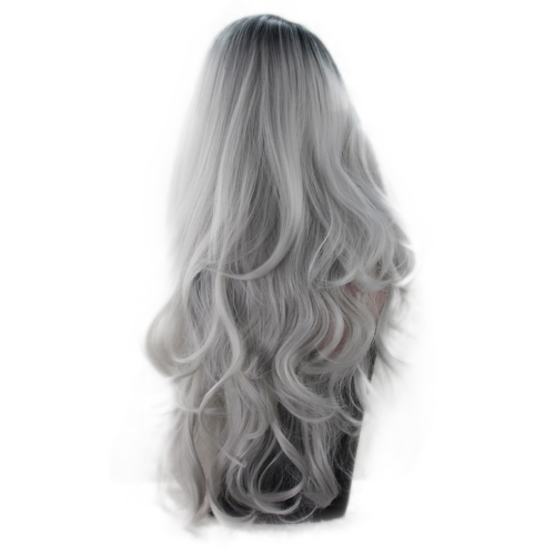 Silvery Gray Dye Lady Long Curly Hair Europe America Wig TemperamentHealth &amp; Beauty<br>Silvery Gray Dye Lady Long Curly Hair Europe America Wig Temperament<br>