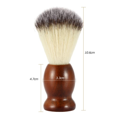 Mens Nylon Shaving Brush with Wood Handle for Beard Professional Male Razor Facial Brush Face Cleaning Tool Dark BrownHealth &amp; Beauty<br>Mens Nylon Shaving Brush with Wood Handle for Beard Professional Male Razor Facial Brush Face Cleaning Tool Dark Brown<br>