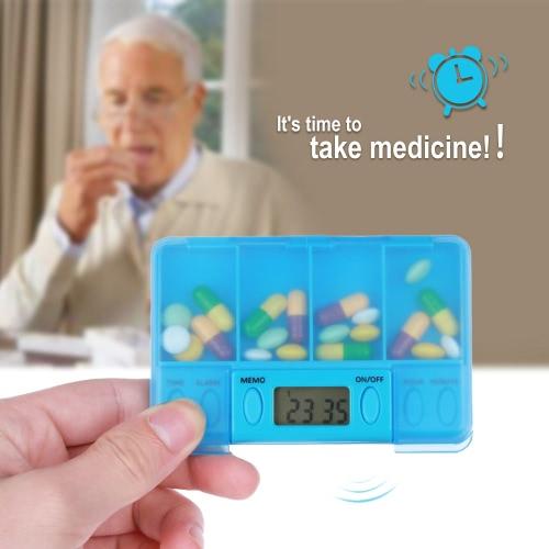 Multi-Alarm Timer Smart Pills Reminder Box Plastic Medicine Box Tablet 4 Clock Alarm for Old People and PatientHealth &amp; Beauty<br>Multi-Alarm Timer Smart Pills Reminder Box Plastic Medicine Box Tablet 4 Clock Alarm for Old People and Patient<br>