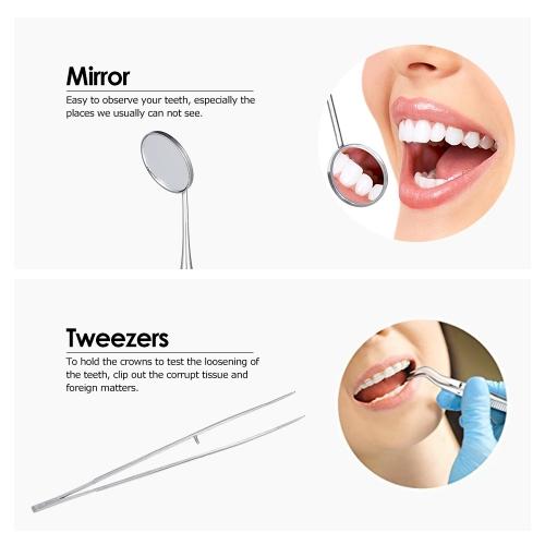 3pcs/pack Dental Hygiene Tools Kit Dentist Set Dental Probe Mirror Tweezers Stainless Steel Teeth Care CleaningHealth &amp; Beauty<br>3pcs/pack Dental Hygiene Tools Kit Dentist Set Dental Probe Mirror Tweezers Stainless Steel Teeth Care Cleaning<br>
