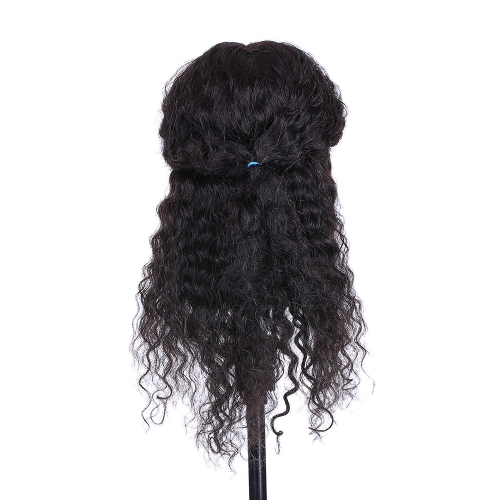 Curly Hair Mannequin Head Hairdressing Training Head for Hair Styling Practice Hair Braiding Dummy Head with 100% Human Hair BlackHealth &amp; Beauty<br>Curly Hair Mannequin Head Hairdressing Training Head for Hair Styling Practice Hair Braiding Dummy Head with 100% Human Hair Black<br>