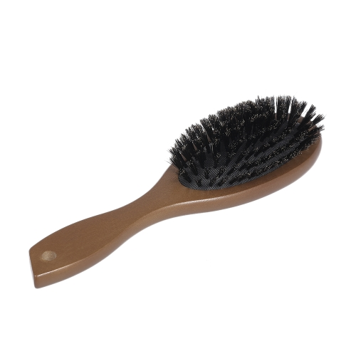 Anti-static Hair Brush Oval Massage Comb Paddle Hair Extension Brush Scalp Massage Wooden Handle