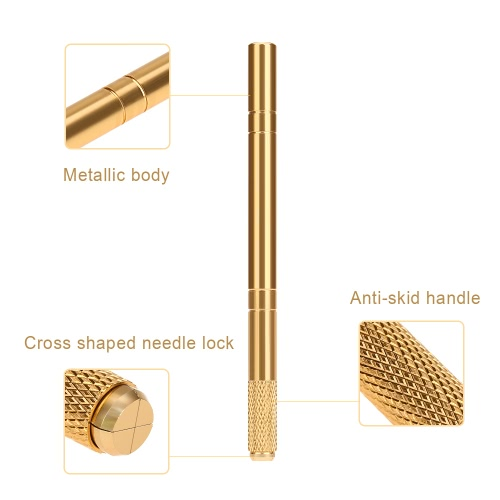Microblade Pen Eyebrow Embroidery Pen Tattooing Machine Pencil Holder for Permanent Makeup Eyebrow Tattooing Manual Pen GoldenHealth &amp; Beauty<br>Microblade Pen Eyebrow Embroidery Pen Tattooing Machine Pencil Holder for Permanent Makeup Eyebrow Tattooing Manual Pen Golden<br>
