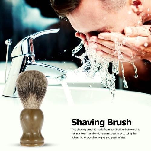 Professional Pure Badger Hair Shaving Brush Barber Salon Resin Handle Shaving Razor Brush Men Facial Beard Cleaning Appliance ShavHealth &amp; Beauty<br>Professional Pure Badger Hair Shaving Brush Barber Salon Resin Handle Shaving Razor Brush Men Facial Beard Cleaning Appliance Shav<br>