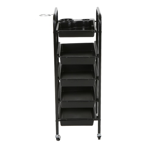 Tray Cart Salon Trolley Hair Rolling Cart 5 Layers Storage Cart Hairdressing Trolley for Barber Black Hairdressing ToolHealth &amp; Beauty<br>Tray Cart Salon Trolley Hair Rolling Cart 5 Layers Storage Cart Hairdressing Trolley for Barber Black Hairdressing Tool<br>